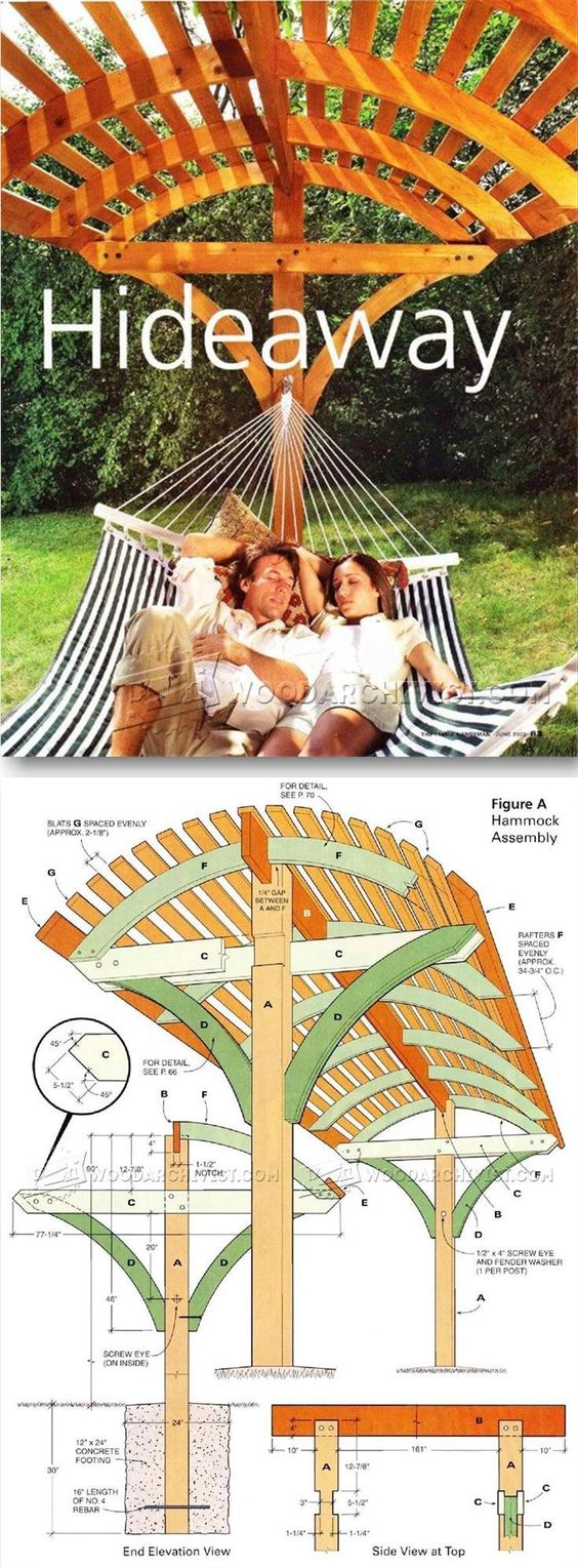 Plans for Building a Hammock Hideaway